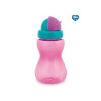 Sportovní láhev se slámkou Canpol Babies - růžová