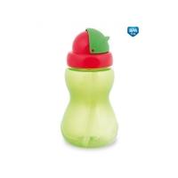 Sportovní láhev se slámkou Canpol Babies - zelená