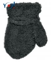 Zimní kojenecké chlapecké froté rukavičky YO - grafit