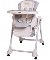 Jídelní židlička a houpačka 2v1 ZEFIR 2017 - šedá