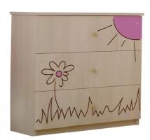 Dětská komoda - Medvídek květinka růžová