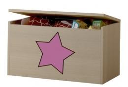 Box na hračky, truhla s růžovou hvězdičkou ke kolekci Žirafka