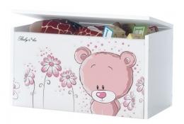 Box na hračky, truhla Medívek STYDLÍN růžový