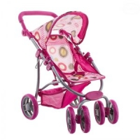 Sportovní kočárek pro panenky - růžový