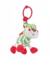 Závěsná plyšová hračka s chrastítkem Forest Friends - liška
