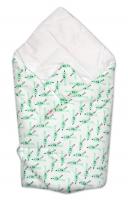 Novorozenecká zavinovačka Baby Nellys ®- zelení ptáčci