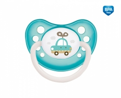 Dudlík anatomický Canpol Babies 0-6m A, Toys -  autíčko modro/zelené