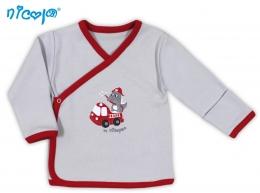 Novorozenecká košilka NICOL HASIČ - zapínání bokem