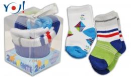 Dárkové balení froté ponožek YO! Muffin - modrá