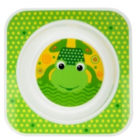 Dětská miska AKUKU Žabka - zelená