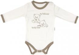 Bavlněné body Mamatti Baby Bear TEDDY- dlouhý rukáv
