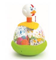 BABY MIX Edukační  hračka/ káča s kuličkami - Slepička