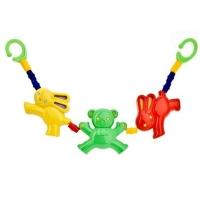 Řetěz, chrastítko na kočárek - Králičci/medvídci