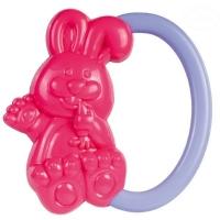 Chrastítko do ručičky Canpol Babies - Zajíček - růžové