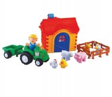 Sada traktor s farmou velká pro nejmenší
