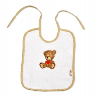 Bryndáček Baby Nellys ® Sweet TEDDY - bílý