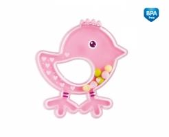 Chrastítko Canpol Babies Ptáčátko - růžové