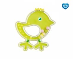 Chrastítko Canpol Babies Ptáčátko - zeleno/žluté