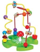 Edukační dřevěná hračka labyrint 26 cm - Zahrádka