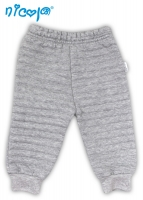 Tepláčky, kalhoty NICOL MYŠKA - šedé - 3D pruhy