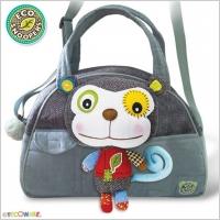 Stylová dětská taška Opička - šedá