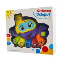 Interaktivní hračka s melodií - Keyboard Chobotnice - fialová