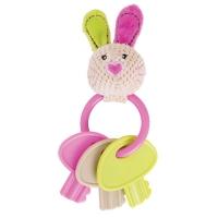 Edukační hračka králiček Bella s kousátkem - klíče