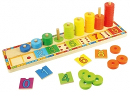 Dřevěná motorická hračka - počítání