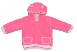 Chlupáčkový kabátek, mikinka  Baby Nellys ® - růžový