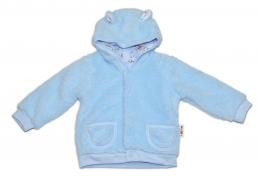 Chlupáčkový kabátek, mikinka  Baby Nellys ® - modrý