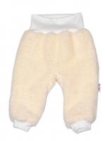 Chlupáčkové kalhoty, tepláčky  Baby Nellys ® - smetanové
