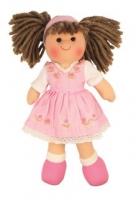 Hadrová panenka EVELÍNA, 27cm