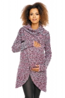 Dlouhý svetřík LADY melírkovaný - fialový