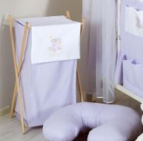 Luxusní praktický koš na prádlo - MRÁČEK fialový