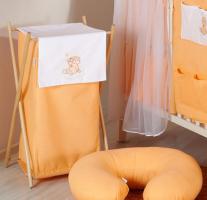 Luxusní praktický koš na prádlo - MRÁČEK broskev