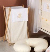 Luxusní praktický koš na prádlo - MRÁČEK krémový