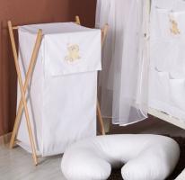 Luxusní praktický koš na prádlo - MRÁČEK bílý