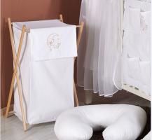 Luxusní praktický koš na prádlo - MĚSÍC bílý