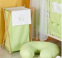 Luxusní praktický koš na prádlo - MĚSÍC zelený