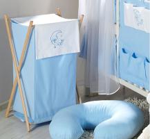 Luxusní praktický koš na prádlo - MĚSÍC modrý