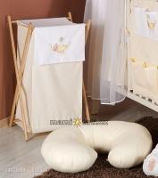 Luxusní praktický koš na prádlo - HOUPAČKA krémová