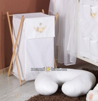 Luxusní praktický koš na prádlo - HOUPAČKA bílá