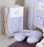 Luxusní praktický koš na prádlo - HOUPAČKA fialová
