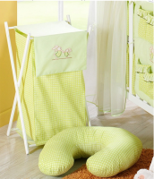 Luxusní praktický koš na prádlo - ZAJÍČCI zelení kr.