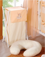 Luxusní praktický koš na prádlo - MRÁČEK  broskev kr.