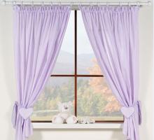 Krásné závěsy do pokojíčku - Snílek fialový