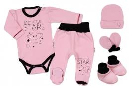 4cf053df5e0 5-ti dílná soupravička do porodnice Baby Little Star - růžová