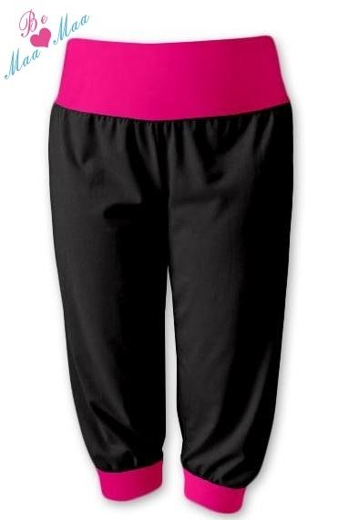 Sportovní 3 4 legíny CAPRI - černé růžové - Mamitati - od mámy a od ... 79a3b61ed1