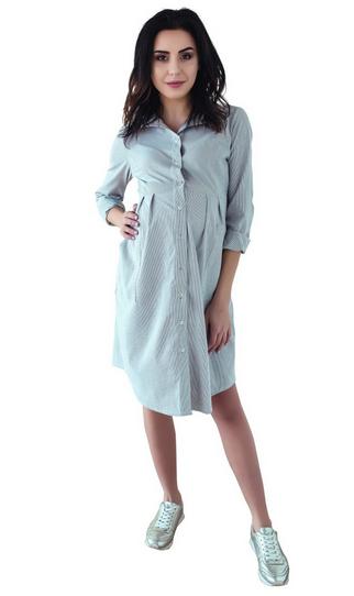 Těhotenské šaty tunika dl. rukáv - černo bílé bb8eb4ab22