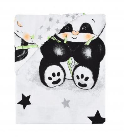 Baby Nellys Dětské bavlněné prostěradlo do postýlky 140x70 cm - Panda bílá Baby Nellys